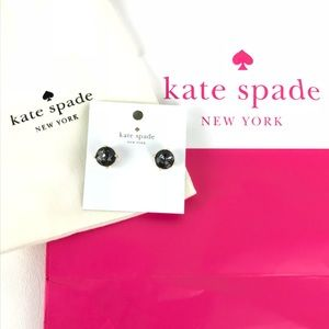 Kate Spade ♠️Gum Drop Earrings Black Diamond
